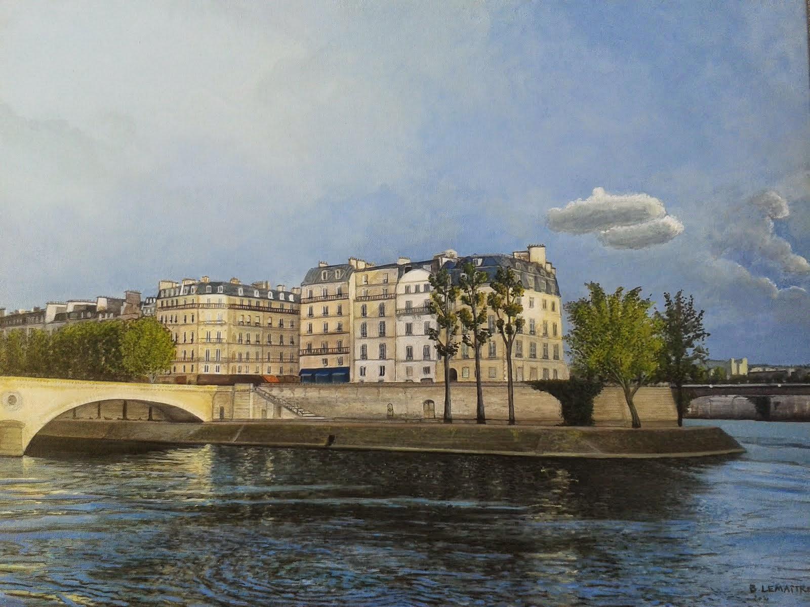 Vue du pont Louis Philippe