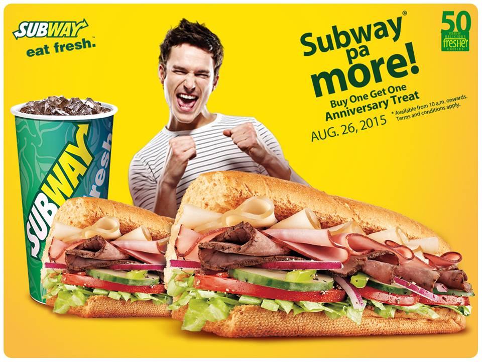 Subway india discount coupons