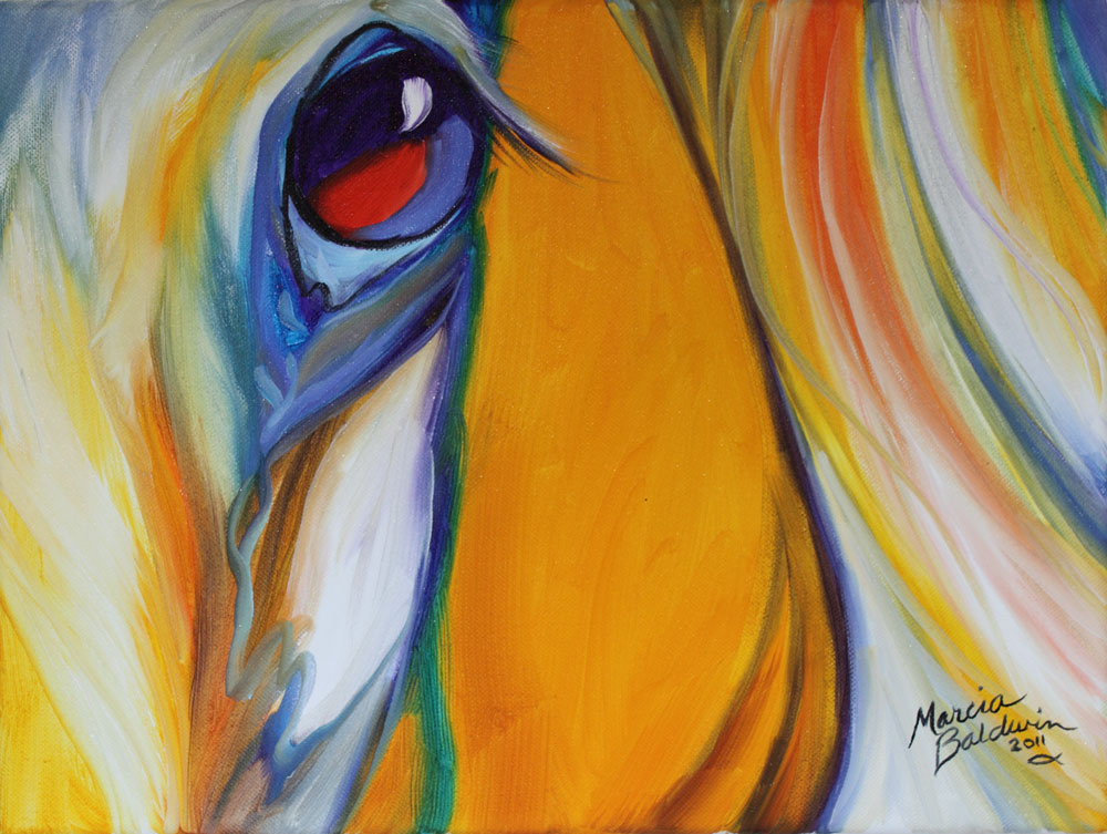 Horse Art Gallery: EQUINE EYE of BEAUTY an ORIGINAL OIL PAINTING by ...