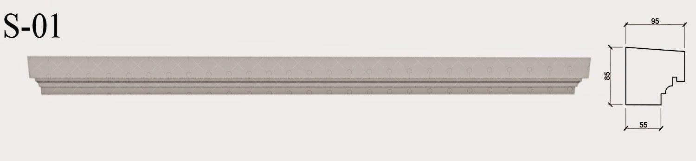 solbanc, profil Decorativ din polistiren pentru ferestre si fatade case. ornamente arhitecturale pentru exterior