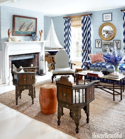 New england nautical style living rooms completely coastal for New england dining room ideas