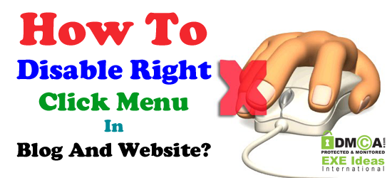 How To Disable Right Click Menu In Blog And Website?