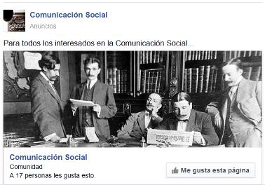 Comunicación Social en Facebook
