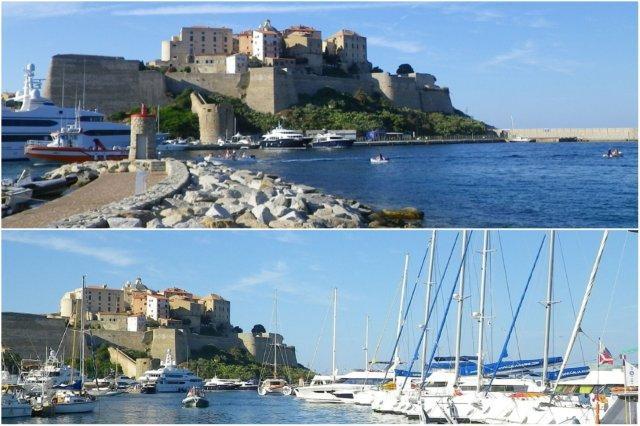 Ciudadela y el puerto de Calvi en Corcega