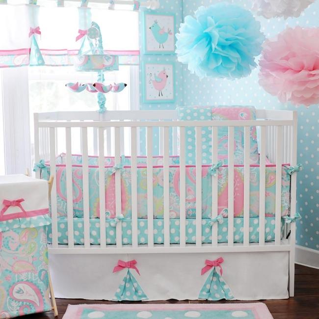 habitaciones con estilo habitaciones de beb rosa y celeste