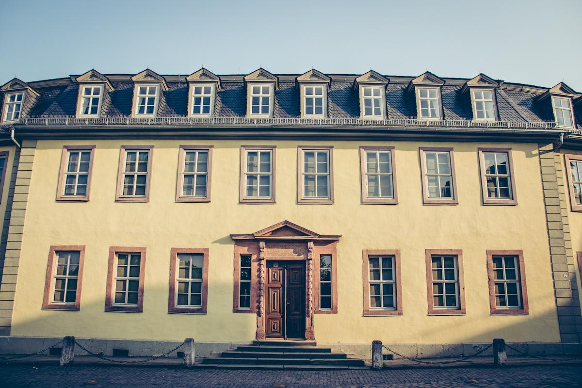 Goethes Wohnhaus Außenansicht