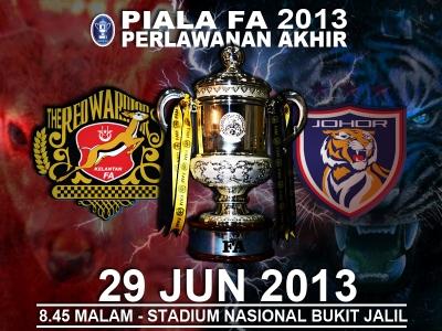 Live Streaming Kelantan vs Johor Darul Takzim (JDT) 29 Jun 2013 - Final Piala FA