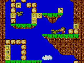 Cena do jogo Alex Kidd da Sega - Master System II