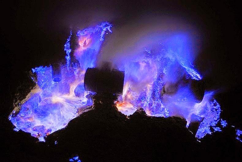 Kawah Ijen, The Volcano That Spews Blue Flames