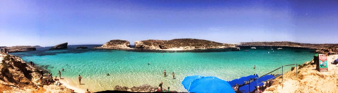 Blue Lagoon at Comino in Malta