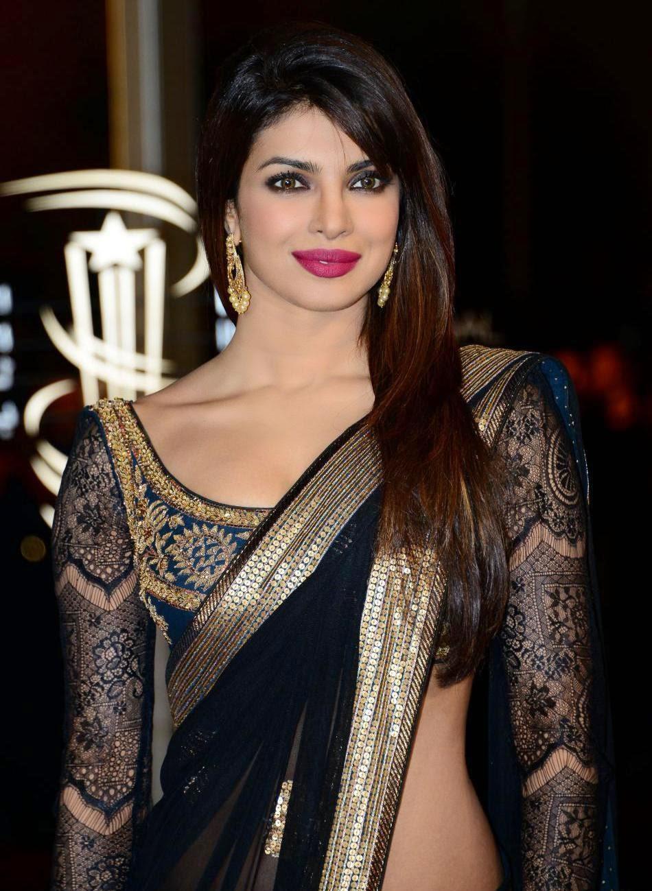 Priyanka Chopra Amp Ileana Hot Photos In Saree At Marrakech