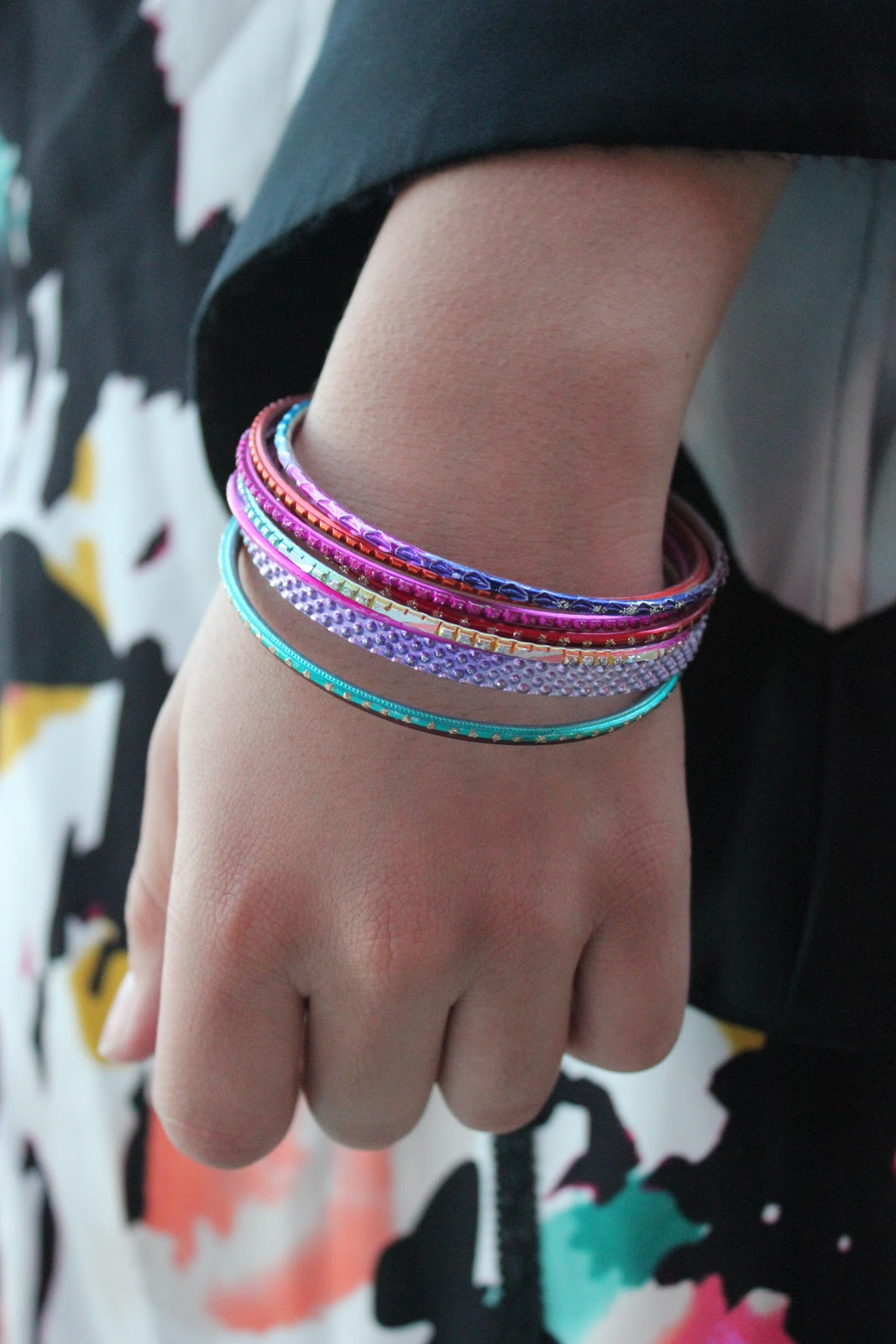 Colorful Rainbow Forever 21 Bangles