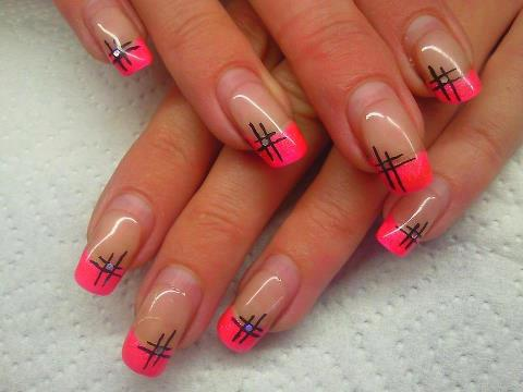 Manicura francesa en color rosa 17 im genes dise os - Manicura francesa colores ...