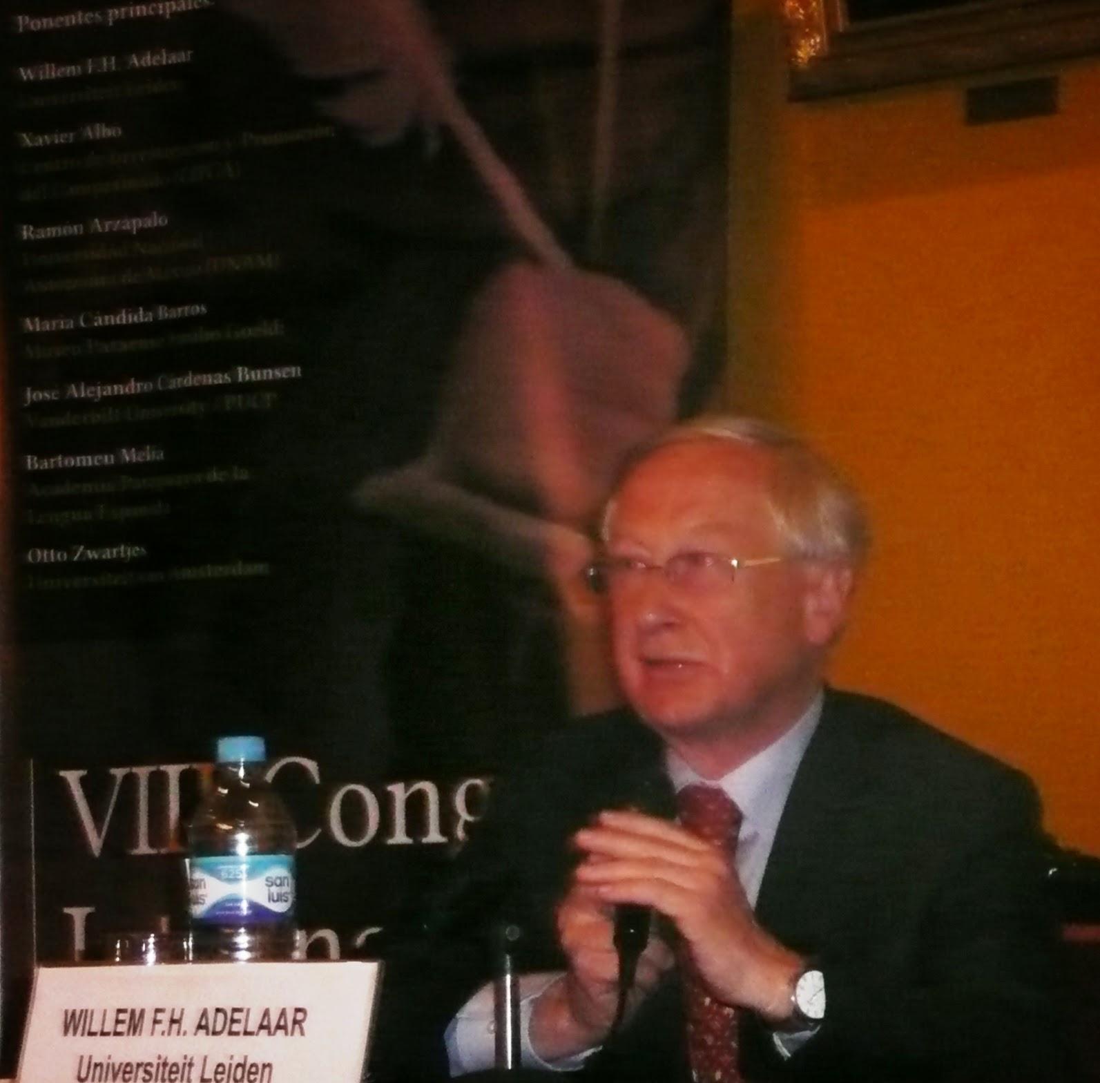 José Antonio Benito: Dr. Willem F.H. Adelaar, de la Universidad de ...