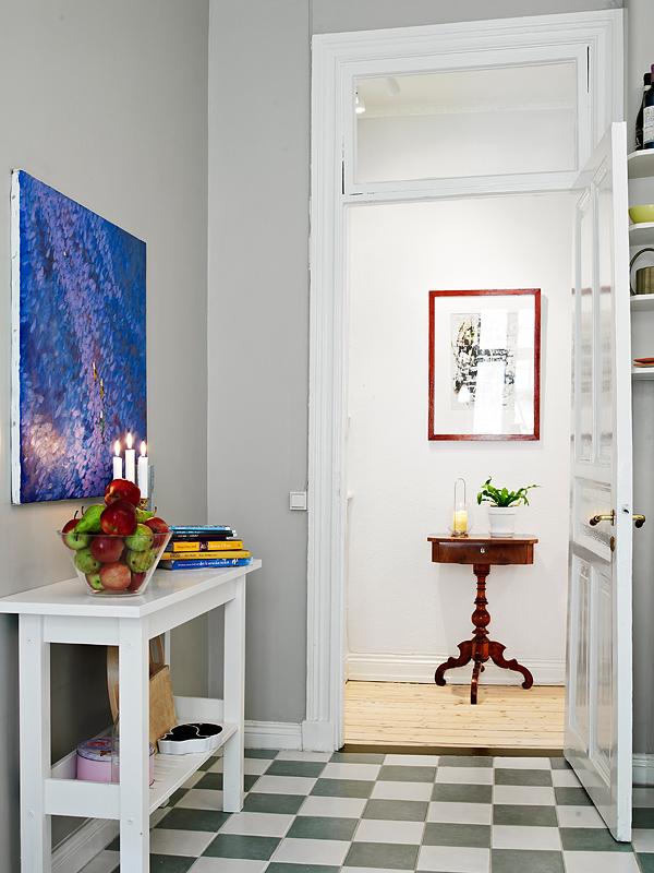 decoração com frutas, quadros na parede