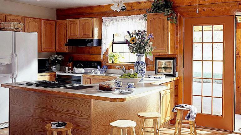 Interior Design of kitchen a wooden structure