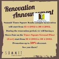 Summit Shoes Fair Sale for Renovation
