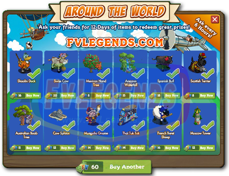 FarmVille Around the World Countdown 12 Days Prizes