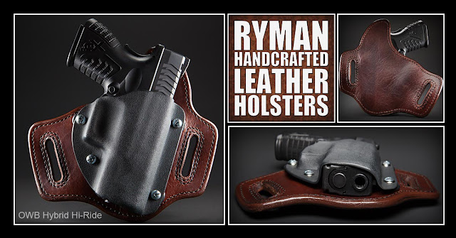 Ryman Holsters, leather holster, hybrid holster, owb holster