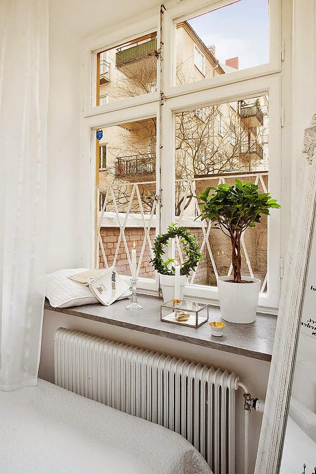 El tama o no importa 30 metros de sencillez y elegancia - Dekoration fensterbank ...