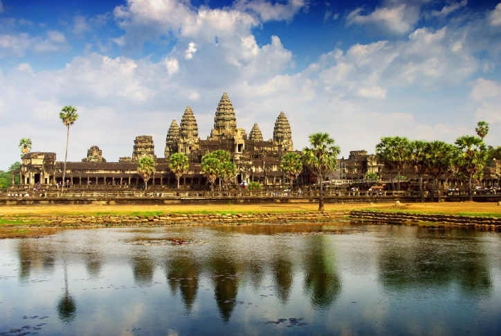 Cambodia is a staple go-to for budget travelers. You can see the ancient ruins of Angkor Wat (above), go diving on the cheap, and hit up any of the country's beautiful, sparkly pristine beaches — and it's all so affordable.