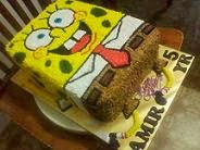 cHOc iNDulGEncE CreAM chEEse CAke DeCOraTIon WIth 3D spONgeBOb