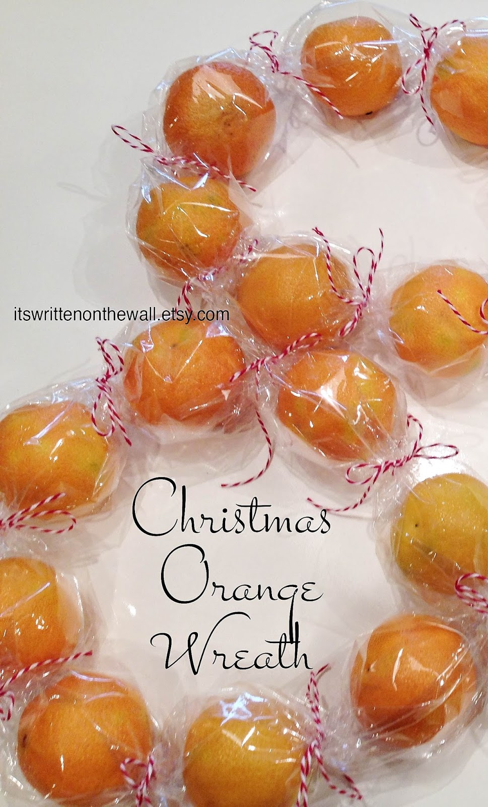 neighbor christmas gift idea give oranges for gifts in a unique way citrus wreath - Unique Christmas Gifts 2014