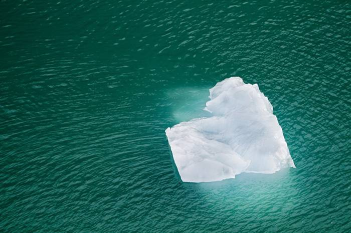 Iceberg in the form of heart