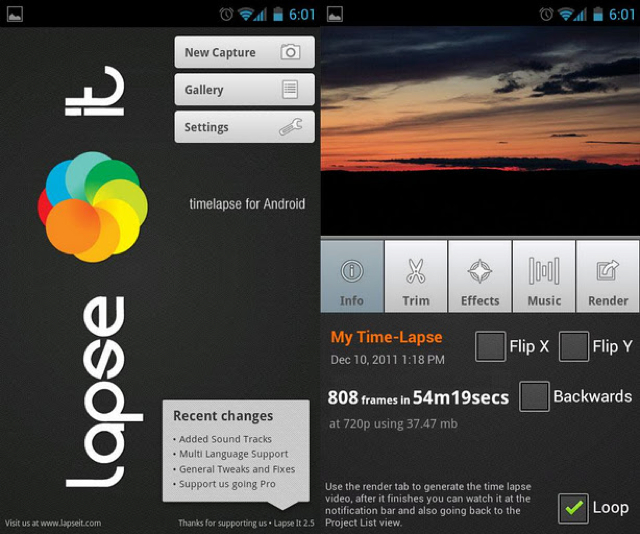 Most useful Mobile apps for photographers Lapse It