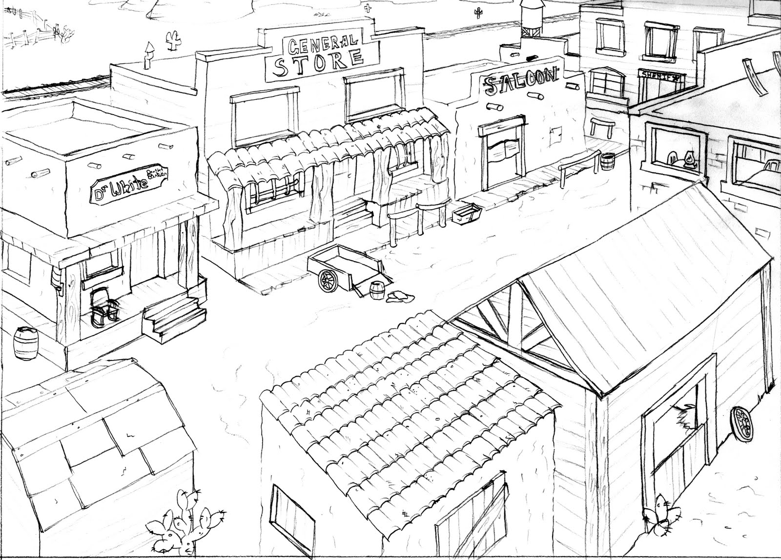 Free Coloring Pages Of Old West Town