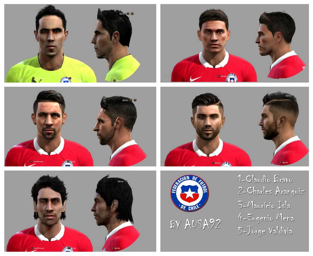 PES 2013 Facepack Chile By Ausa92 | PES - MODIF