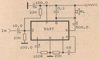 rangkaian amplifier menggunakan ic