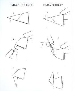 Origami - Dobraduras de papel machê 2.