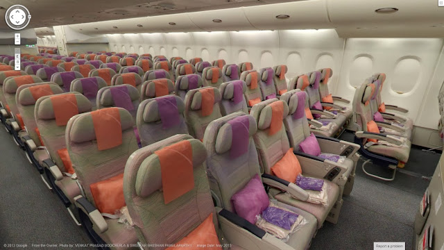 迪拜國際機場 Emirates A380 客機的機艙實景