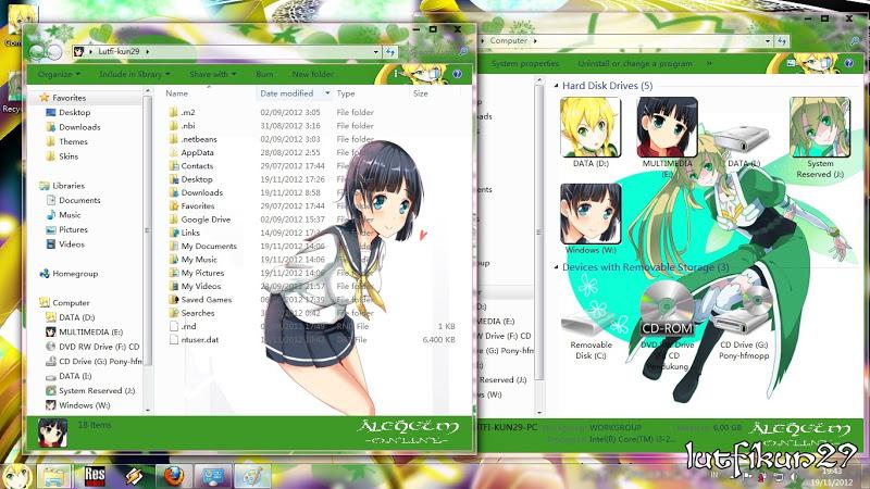 Download Tema Suguha Kirigaya Alfheim Online Untuk Windows 7