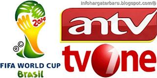 Siaran Langsung Piala Dunia 2014 | ANTV dan TV One