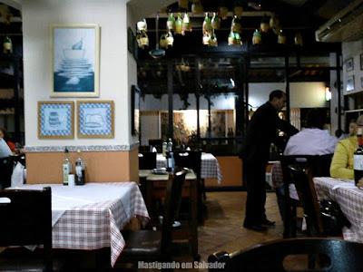 Cantina Cortile: Ambiente interno: salão superior