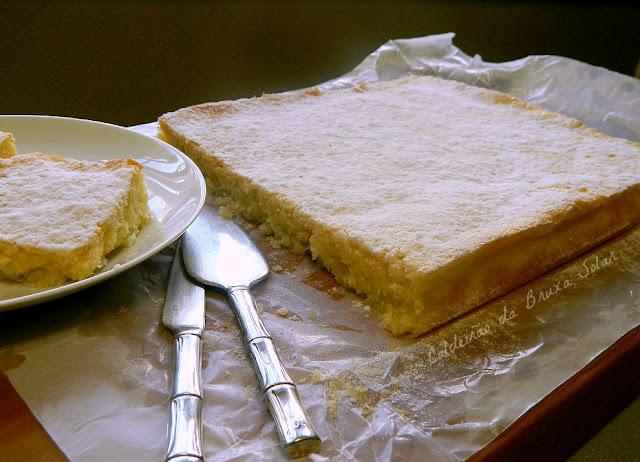 Brownie de coco e limão siciliano