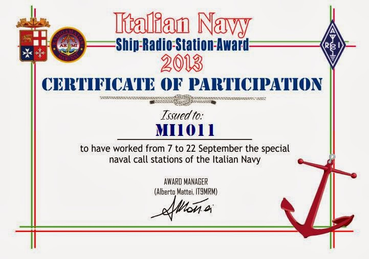 Contest ARMI I.N. Ship Radio Station Award 2013