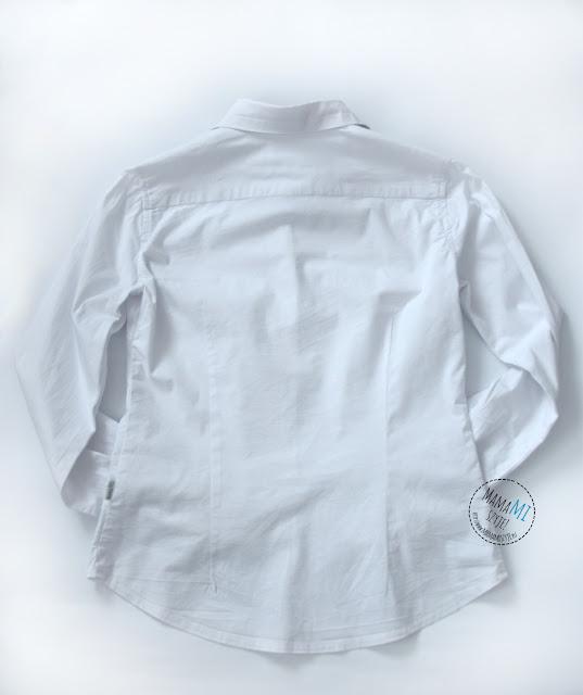 skąd wziąć wykrój na koszulę, tył koszuli z zaszewkami