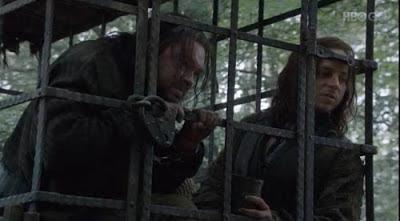 Rorge junto a Jaqen H'ghar - Juego de Tronos en los siete reinos