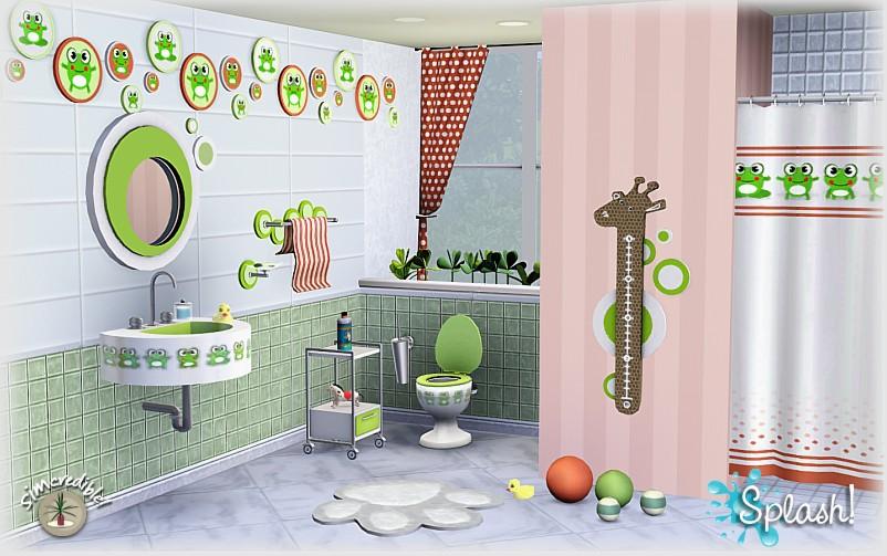 Empire sims 3 splash bathroom set by simcredible designs for Bathroom ideas sims 3