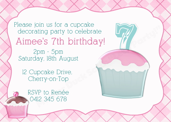 Mother duck said lets party cupcake party invitation cupcake party invitation filmwisefo