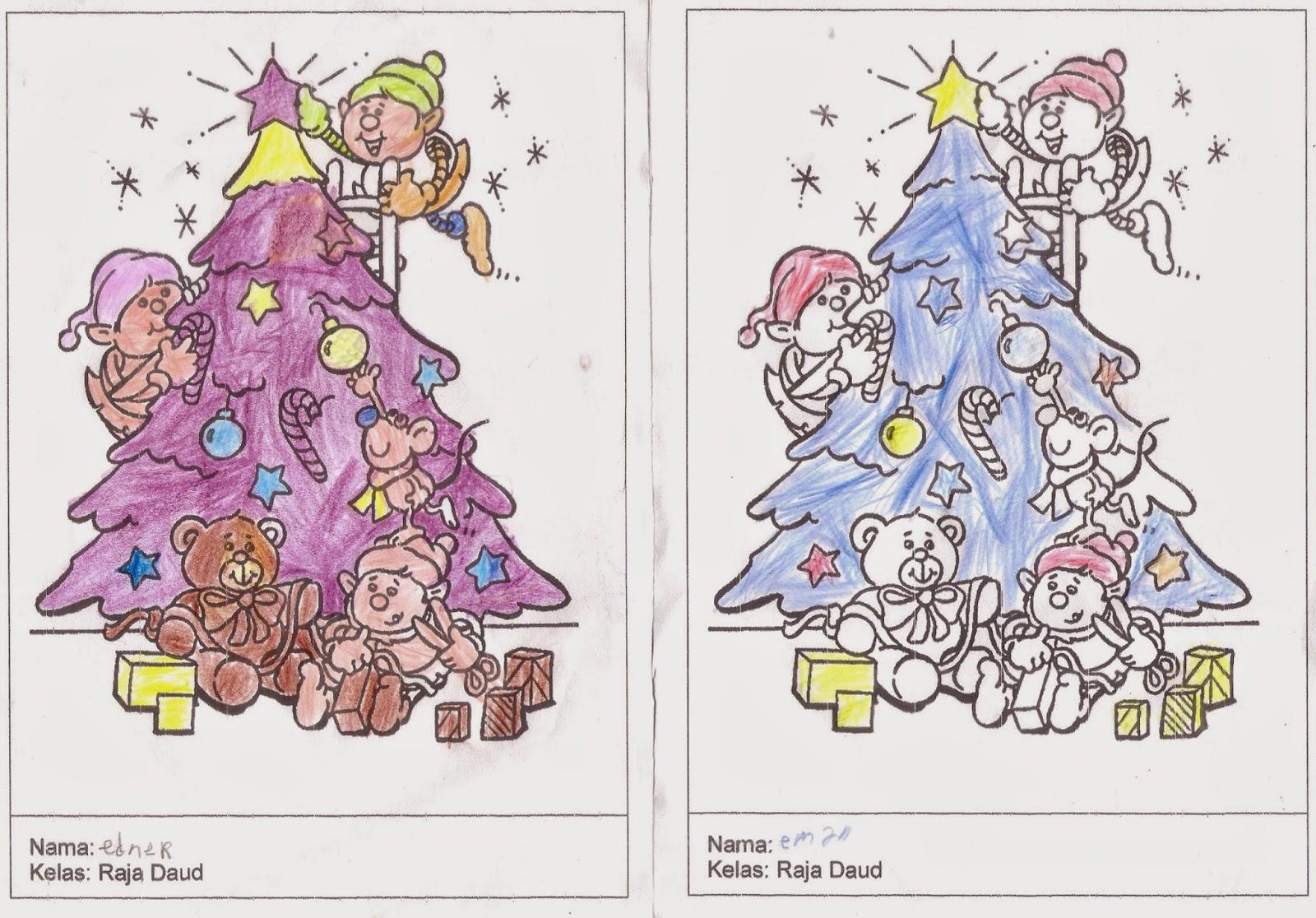 Mendesain Baju Natal Hasil Karya Kelas Yusufï ¿
