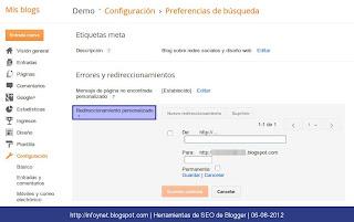 blogger-redireccionamientos-personalizados