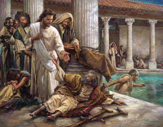 Jesus healing pictures in bible