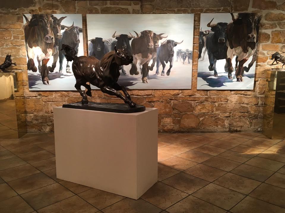 LYON : CAPTON PARTICIPE À L'EXPOSITION D'ART ANIMALIER DE LA GALERIE SAINT-HUBERT