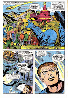 Fantastc Four v1 #84 marvel 1960s silver age comic book page art by Jack Kirby
