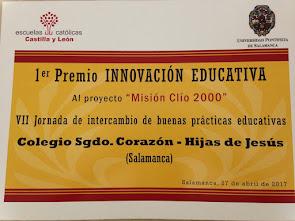 Primer Premio Innovación Educativa de EE.CC. y UPSA