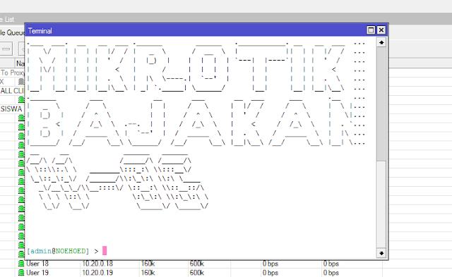 Modifikasi Terminal Console Mikrotik